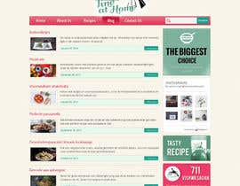 Aloknano tarafından Design a website mockup for my foodblog (2 pages) için no 18