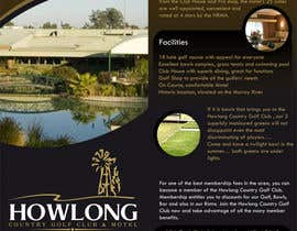 #22 untuk Brochure Design for Howlong Country Golf Club oleh creationz2011
