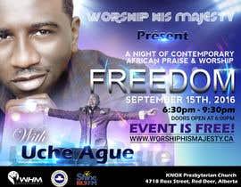Nro 11 kilpailuun Freedom Concert Flyer - September 2016 käyttäjältä freerix