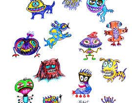 nº 39 pour Create monster drawings for mobile game par alinabalan2001