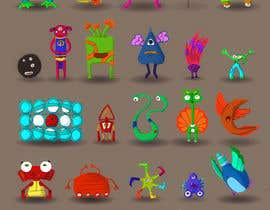 nº 9 pour Create monster drawings for mobile game par ErdemBazarov