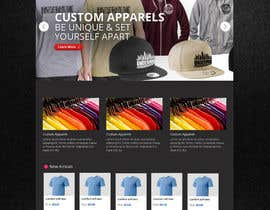#8 for Design a Website Mockup for a custom apparel business by MiNdfr34k