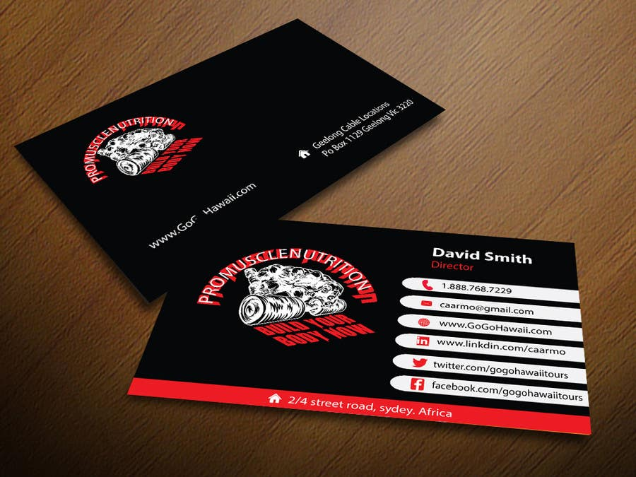 Entry 58 by mamun313 for design some business cards for a contest entry 58 for design some business cards for a supplement store reheart Images