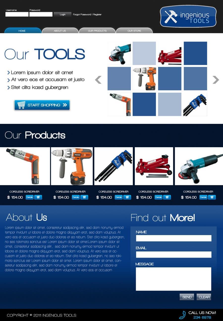 Participación en el concurso Nro.31 para Website Design for Ingenious Tools
