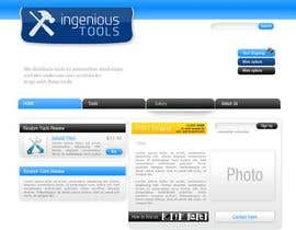 #8 para Website Design for Ingenious Tools por antoaneta2003
