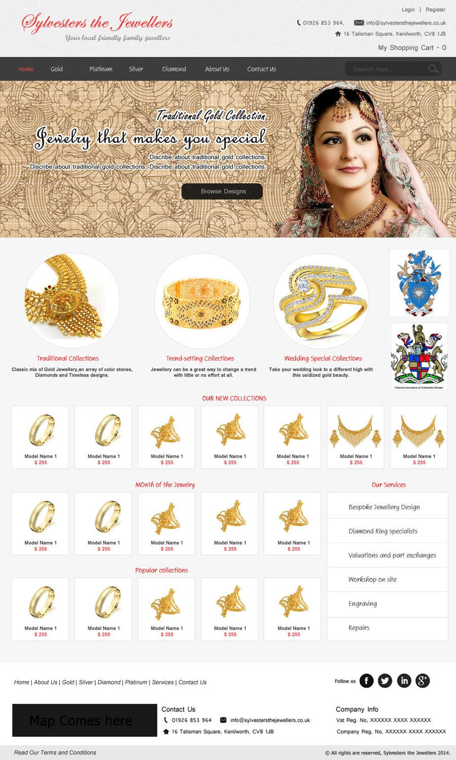 #10 for Website design for a jewellers - Please read the brief. by poujulameen