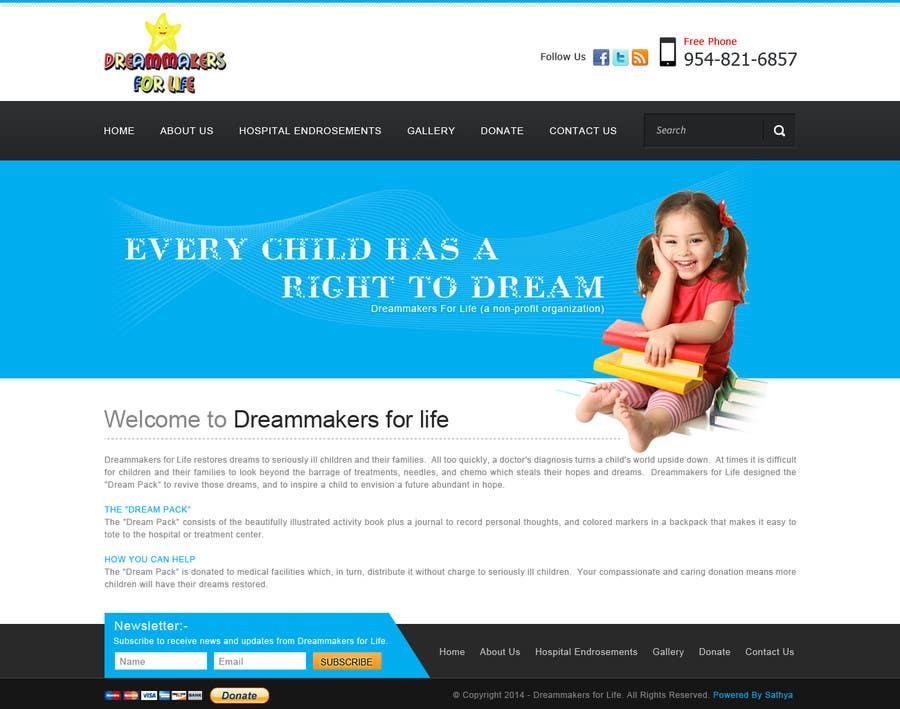 Proposition n°4 du concours Design a Website Mockup for http://dreamforlife.org/