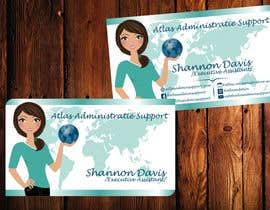 #22 para Design some Business Cards for Atlas Administrative Support por TheDesignA