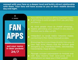 #4 para Create Flyer / Fact sheet for Fan Apps por garbagedump