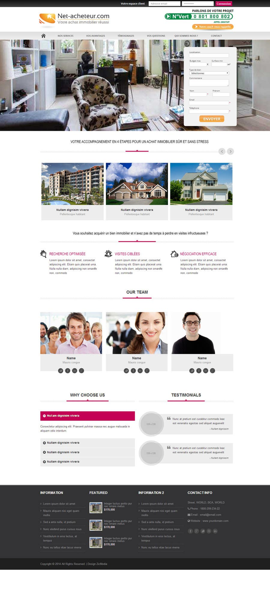 #5 for Real Estate Service - NEW Landing Pages by zicmedia