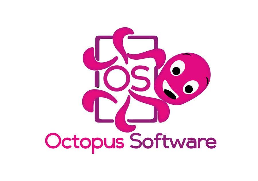 Kilpailutyö #224 kilpailussa Design a Logo of a cartoon octopus