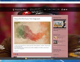 nº 4 pour webdesign minimalist blog par pacific1