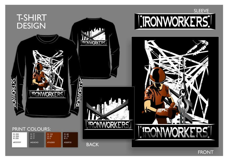 Entry #18 by salutyte for Design a T-Shirt for ironworkers