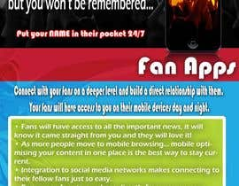 #13 untuk Fact sheet/flyer for a Fan Smartphone App oleh ashbrawler12