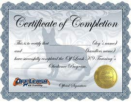 #21 para Design a Certificate of Completion For Dog Training Business por BrandtGraphix