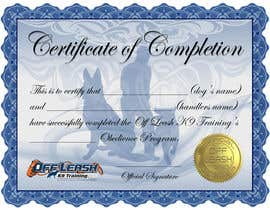 #53 para Design a Certificate of Completion For Dog Training Business por BrandtGraphix