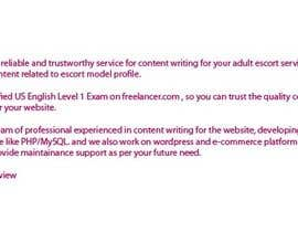 #15 para Content Writing for adult sites por roborean