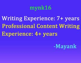 #30 para Content Writing for adult sites por mynk16