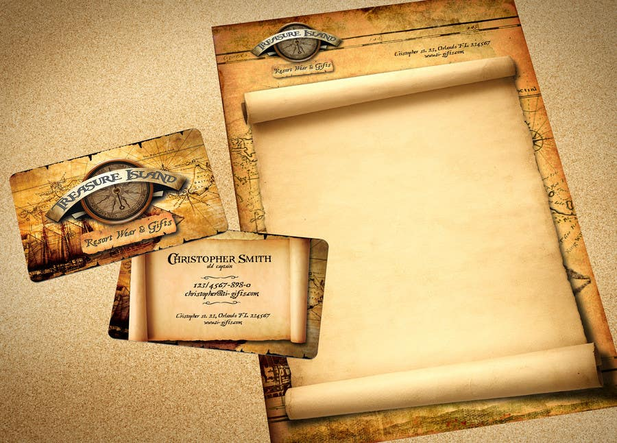 Kilpailutyö #                                        78                                      kilpailussa                                         Business Card Design for Treasure Island Resort Wear & Gifts