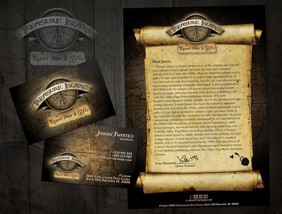 Kilpailutyö #                                        51                                      kilpailussa                                         Business Card Design for Treasure Island Resort Wear & Gifts
