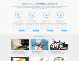 #14 untuk Design a Website Mockup for I.T. Consulting/Development company oleh asad12204