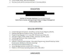 nº 14 pour Writing a Killer Resume + Cover letter !! par anoushey47