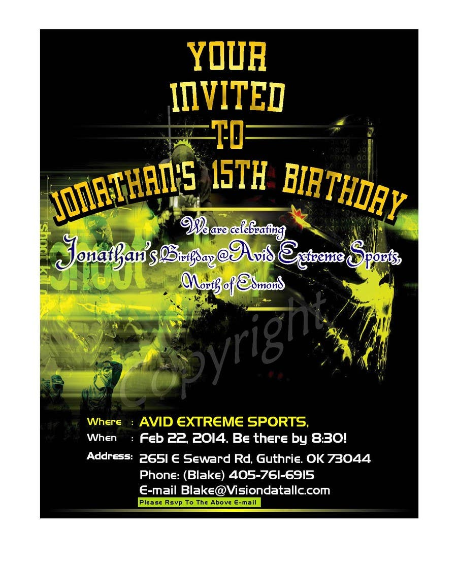 #49 for Design a Flyer for a birthday party by mahisahrifahmed