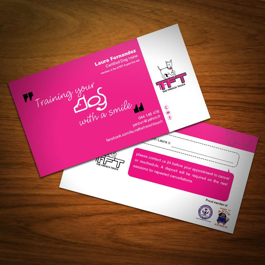 Entry #48 by FlexKreative for Design some Business Cards for a dog ...
