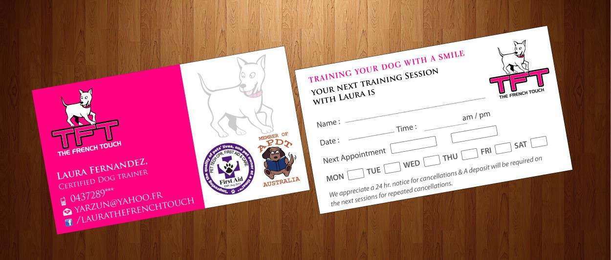 Entry #65 by harmi199 for Design some Business Cards for a dog ...