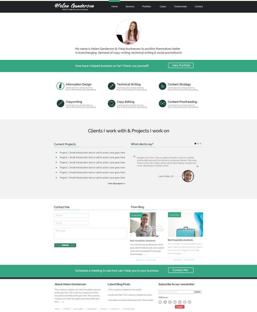 #15 for Design a Wordpress Mockup for portfolio by maxbt