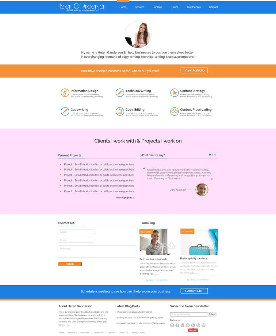 #18 for Design a Wordpress Mockup for portfolio by maxbt