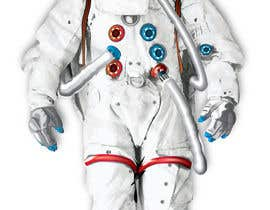 #6 para Illustrate/design a realistic Astronaut for printing por Headnhand