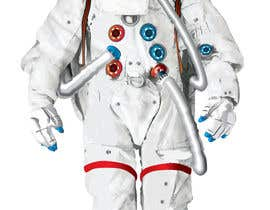#12 para Illustrate/design a realistic Astronaut for printing por Headnhand