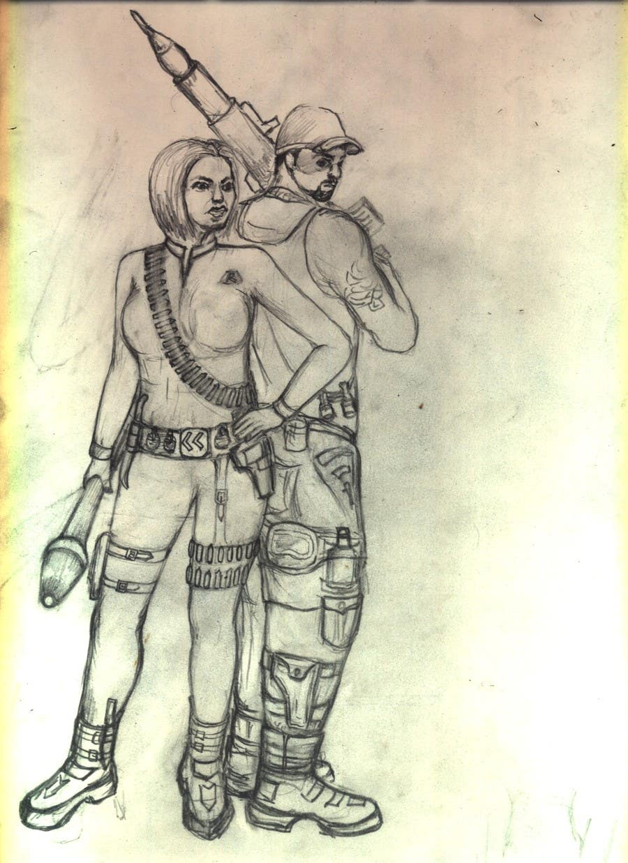 #10 for Create 2 Gunman Characters — Female & Male by mainulislam85