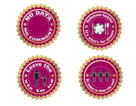 #3 para Design 4 (four) pieces of artwork to be used as badges / button pins por chanu4n