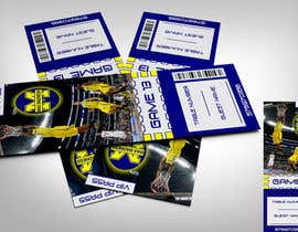 #8 para Design a Basketball Ticket to be used as a place card for party por linxdinx