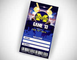 #12 para Design a Basketball Ticket to be used as a place card for party por vanessavbecerra
