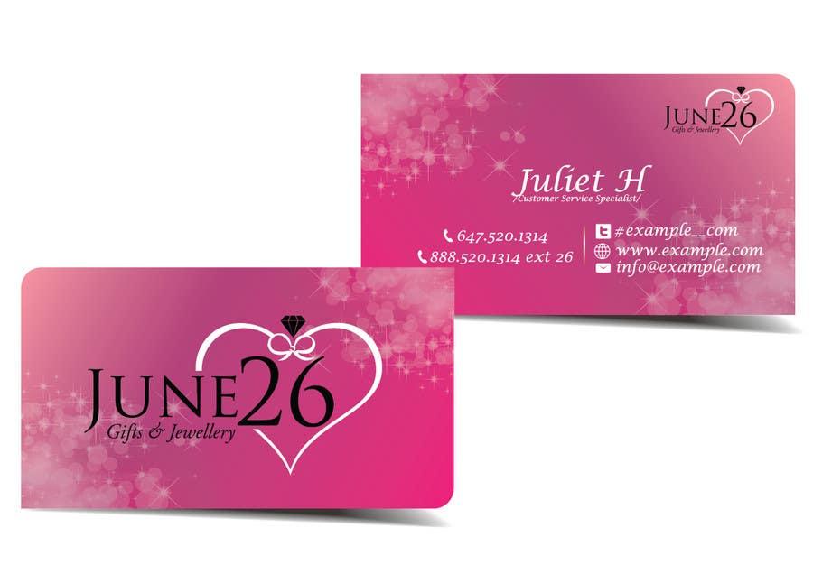 Inscrição nº 6 do Concurso para Gifts & Jewellery Couple Store 2 Business Card Design