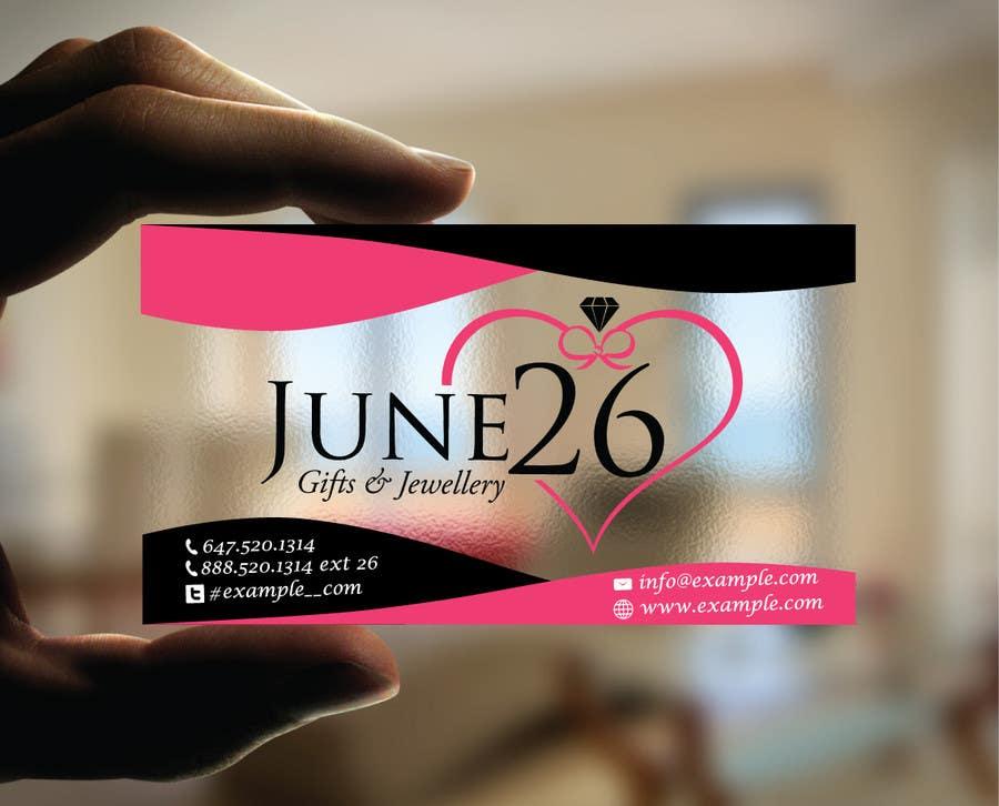 Inscrição nº 26 do Concurso para Gifts & Jewellery Couple Store 2 Business Card Design
