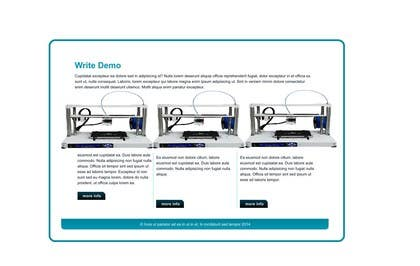 kabiramin tarafından GATE2 3D printer - product's banner for Prestashop Revolution Slider için no 6