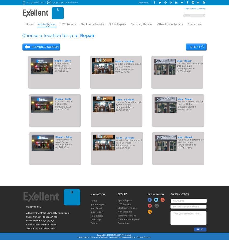 Kilpailutyö #16 kilpailussa Ontwerp een Website Mockup for repair site