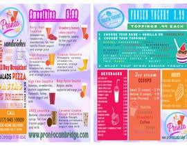 crscarey2016 tarafından Menu card design for Frozen yougurt, Ice Cream, Smoothies için no 17