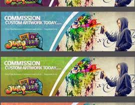 SJADDesigns tarafından Banner for Artist Website için no 4