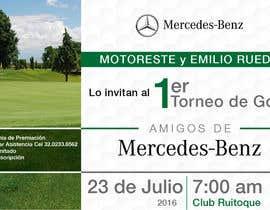 Nro 7 kilpailuun Design an Invitation to a golf tournament käyttäjältä VICTORRAZ0