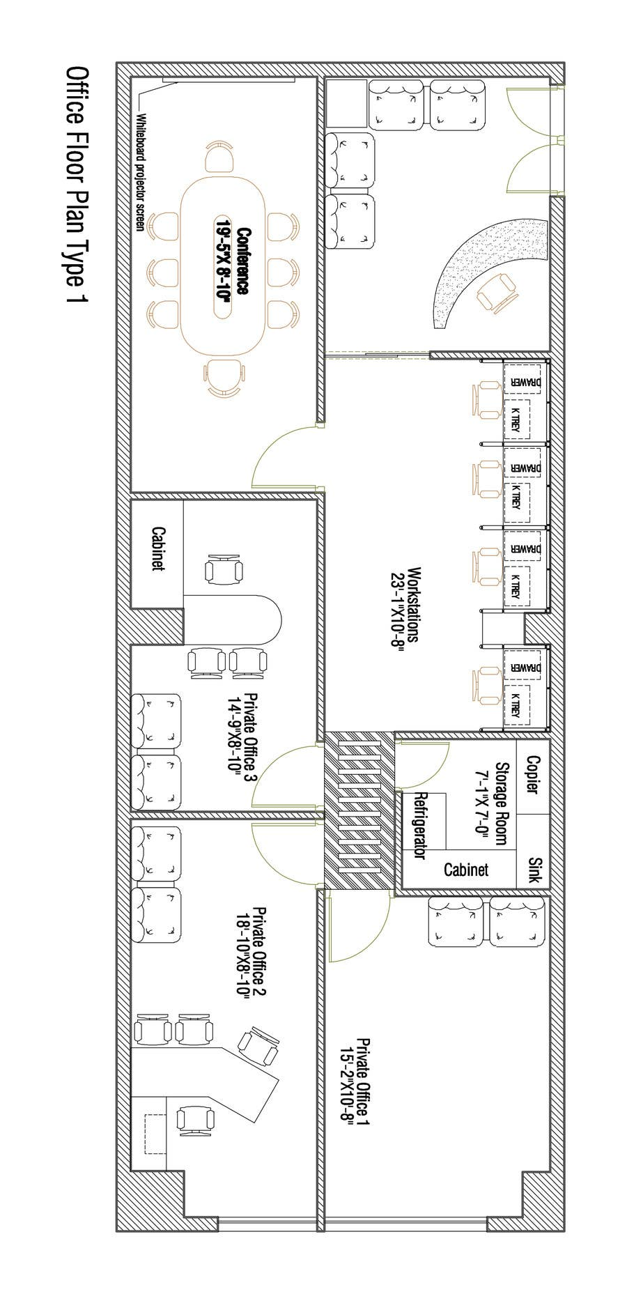 Entry #30 By Inzamamsadi For Office Floor Plan And