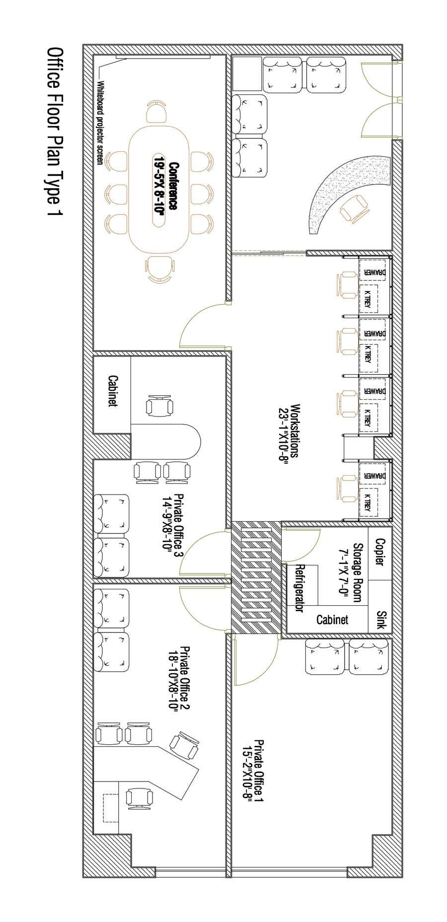 Floor Plan Furniture Office Furniture Layout Design