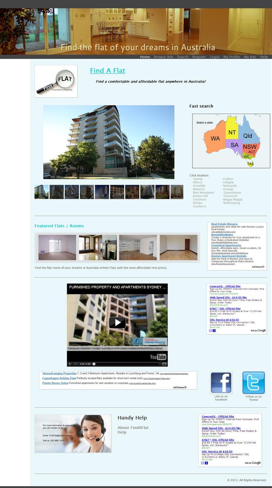 Inscrição nº                                         5                                      do Concurso para                                         Graphic Design for The business is called 'FindAFlat.com.au'
