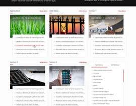 Nro 10 kilpailuun Design a Website Mockup for News Site käyttäjältä nizagen