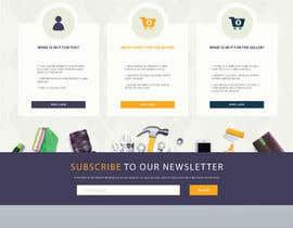 grapkisdesigner tarafından home landing page svg png design website UX UI designer için no 47