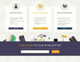 Nro 53 kilpailuun home landing page svg png design website UX UI designer käyttäjältä grapkisdesigner